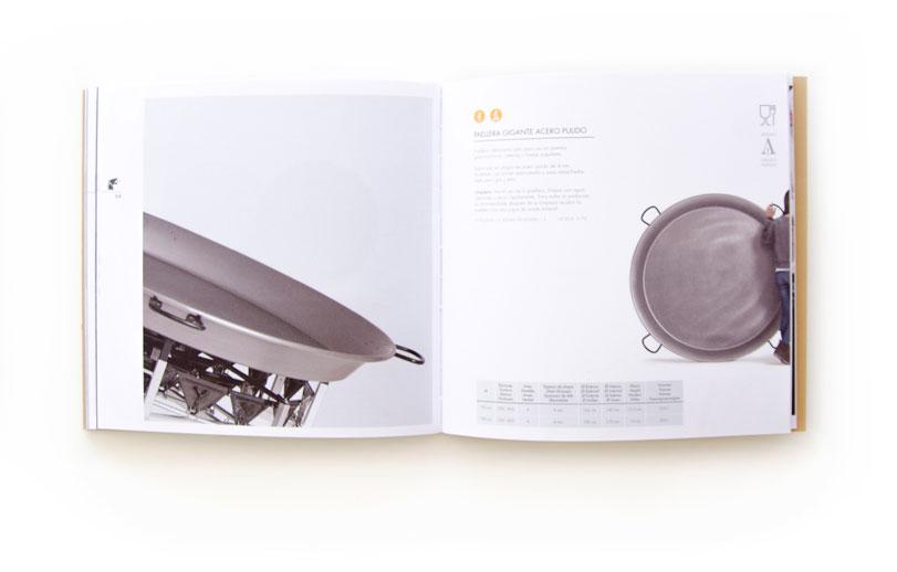 Flames - Ximo Roca Diseño. Maquetación y diseño de catálogo de productos para empresa dedicada a la creación de quemadores paelleros a gas industriales y domésticos.