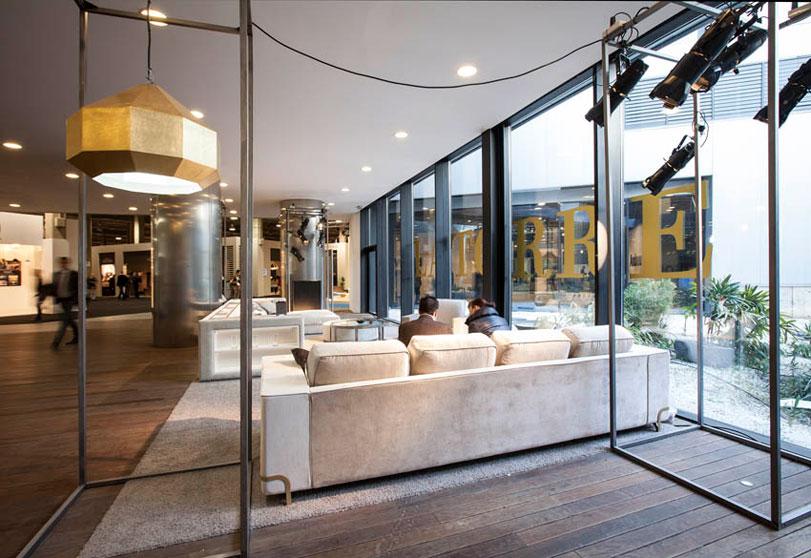 Latorre - Ximo Roca Diseño. Diseño de stand para Feria Habitat Valencia a empresa de alta decoración, muebles e iluminación.