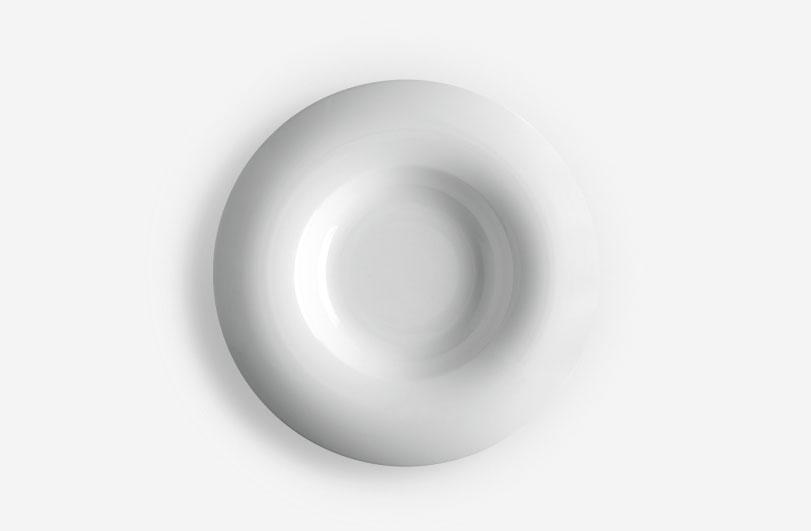 Colección Orbe, vajillas de diseño en porcelana para Porvasal by Ximo Roca