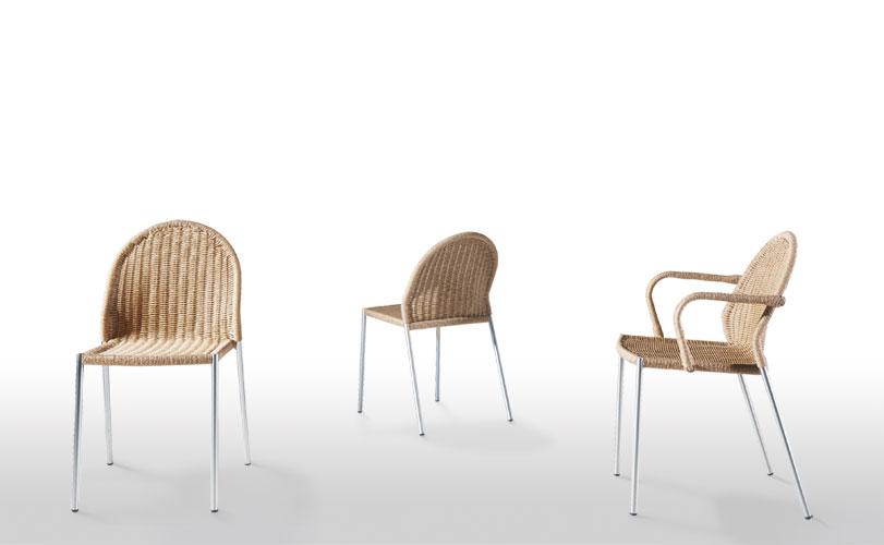 Saeta - Ximo Roca Diseño. Esta silla de médula de caña esta dotada de elegantes formas, ha conseguido que la ergonomía y la comodidad vayan de la mano