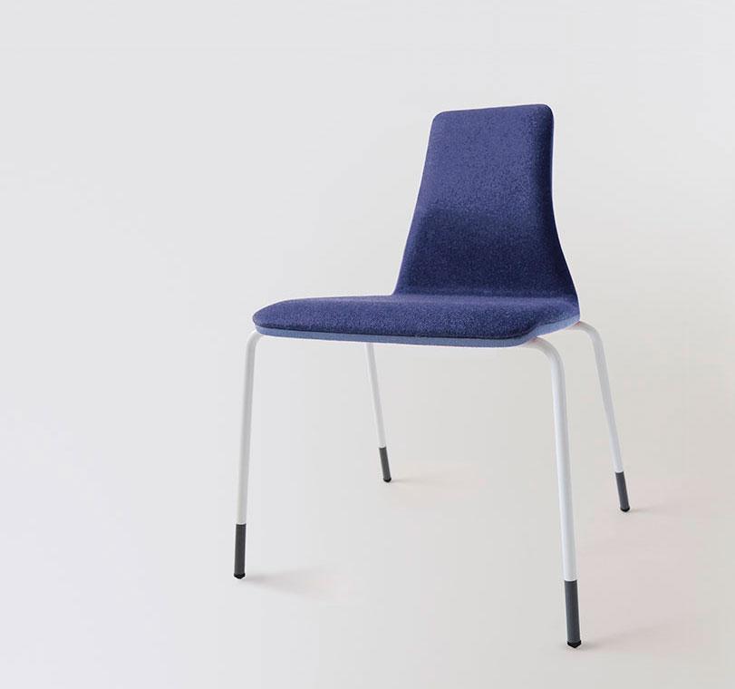 UIT - Ximo Roca Diseño. Diseño de producto. Ofrece una buena ergonomía y la posibilidad de combinar diferentes tejidos, fabricada en estructura de acero.