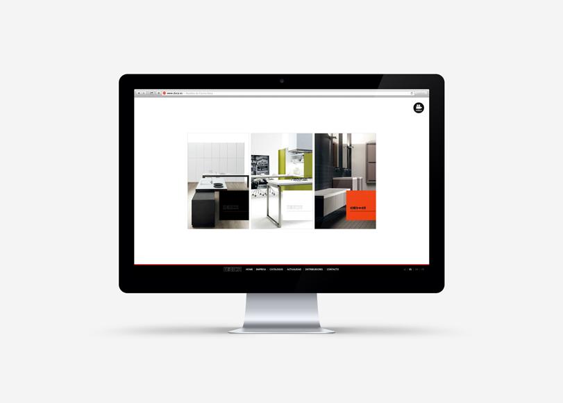 Doca - Ximo Roca Diseño. Diseño web para la empresa Doca dedicada a mobiliario, ambientes de cocina, baños y armarios.