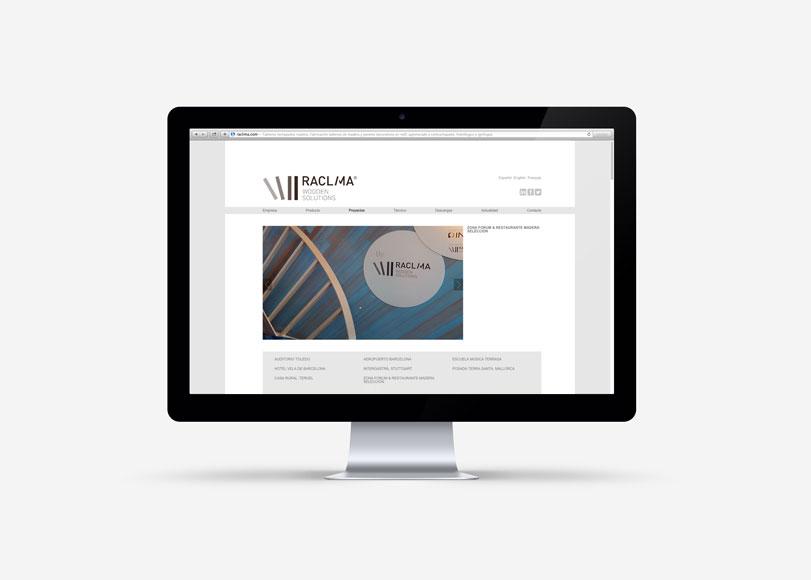 Raclima - Ximo Roca Diseño. Diseño y desarrollo web para empresa ubicada en Valencia dedicada a la fabricación de tableros para la construcción y mobiliario.