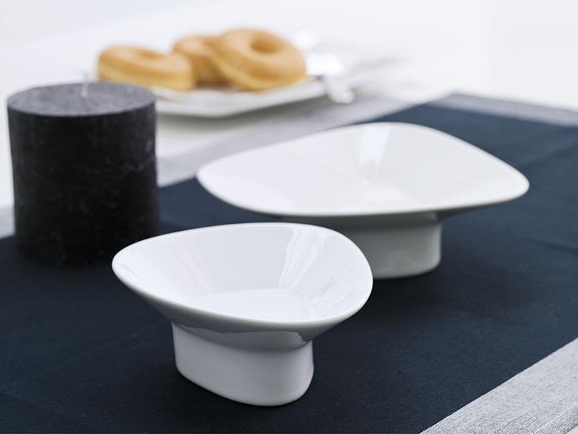 Colección Bolet, vajillas de diseño en porcelana para Porvasal by Ximo Roca