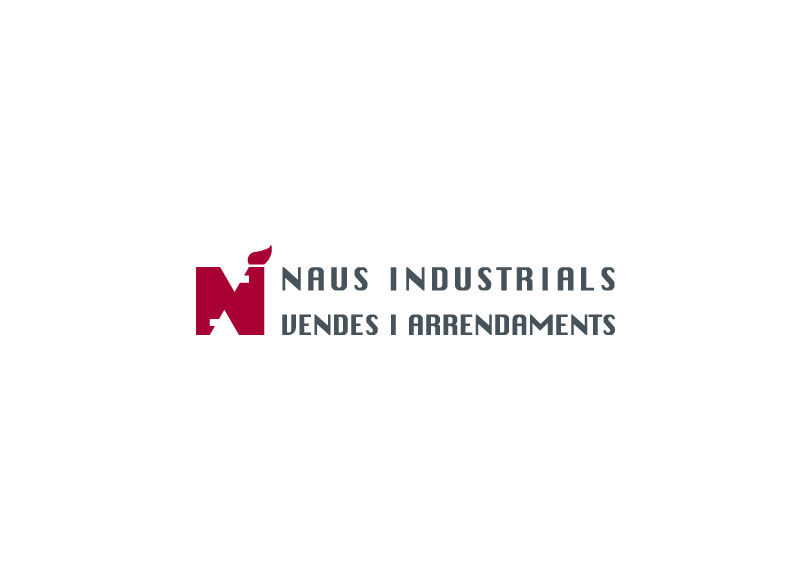 Naus Industrials - Ximo Roca Diseño. Diseño de identidad corporativa dedicada a la venta y alquiler de inmuebles.