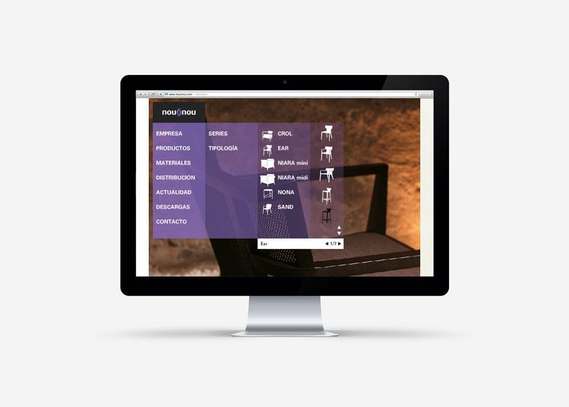 NouoNou - Ximo Roca Diseño. Diseño y desarrollo web para empresa dedicada a tapizados de lujo.