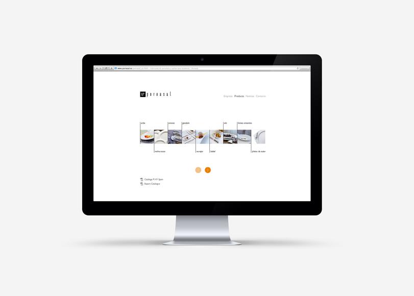 Porvasal - Ximo Roca Diseño. Diseño y desarrollo web, diseño multimedia para la empresa fabricantes de vajillas de porcelana para la hostelería.