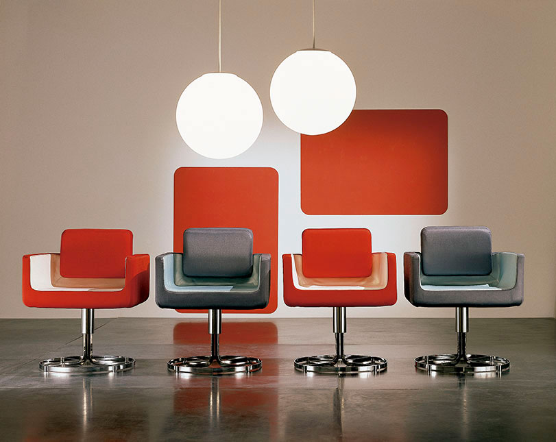 Oboenino - Ximo Roca Diseño. Este original sillón está basado en el movimiento artístico Pop Art. Su particular posibilidad de combinación de colores aporta a la estancia un toque de vitalidad.