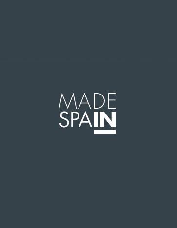 """Logotipo diseñado para apoyar la producciónnacional. Pese a su minimalismo, muestra un guiño que define muy bien su significado: el """"IN"""" está subrayado, para remarcar la idea de producción española."""