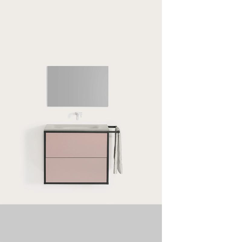 Star. Colección de muebles de baño fabricados en cristal templado y estructura de aluminio. La sencillez de sus formas y su apariencia discreta en el espacio aportan a la colección la capacidad de adaptarse a cualquier tipo de ambiente.