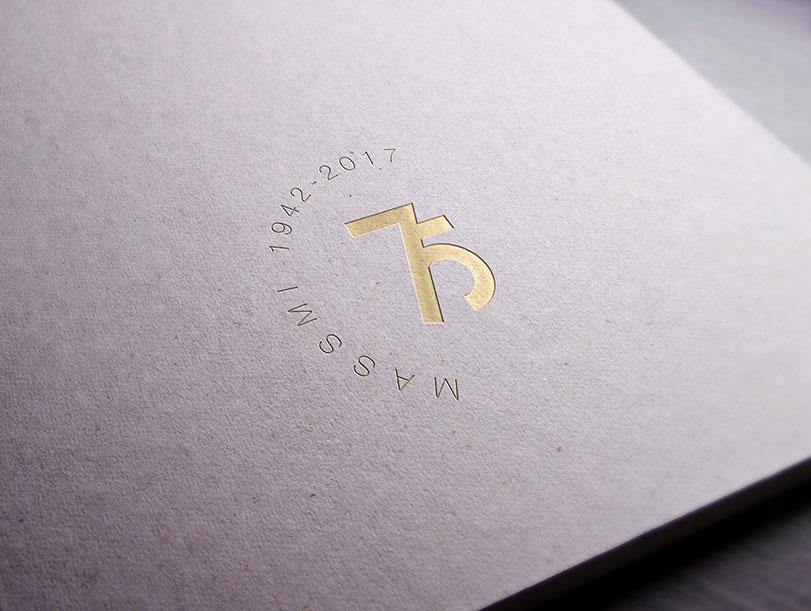 Logo marca para desarrollada con motivo del 75 aniversario de la empresa Massmi.