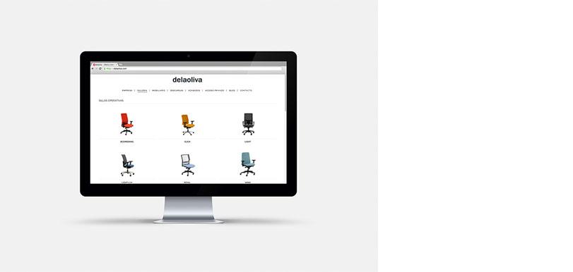 Diseño y desarrollo web para Delaoliva. - Ximo Roca Diseño